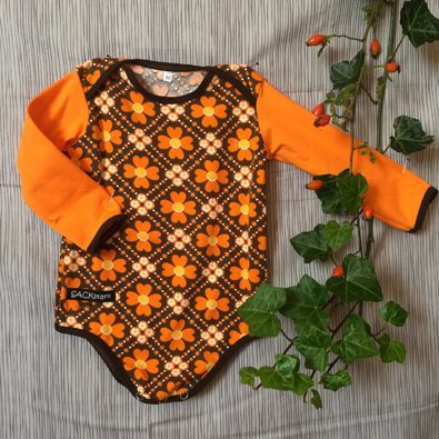 Body 'Retroblumen orange-braun'