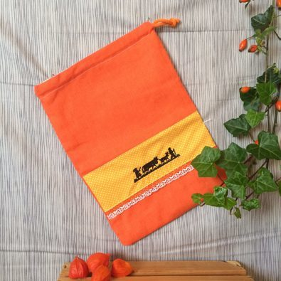 Brotsack Leine klein orange